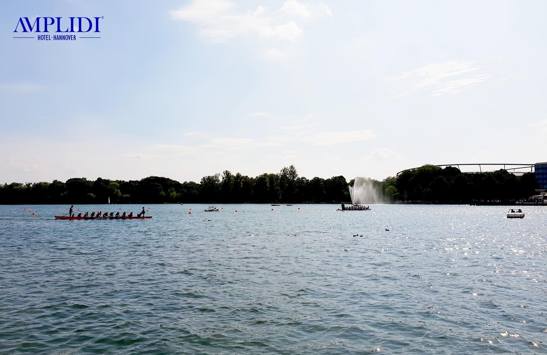 Boote auf dem Maschsee in Hannover