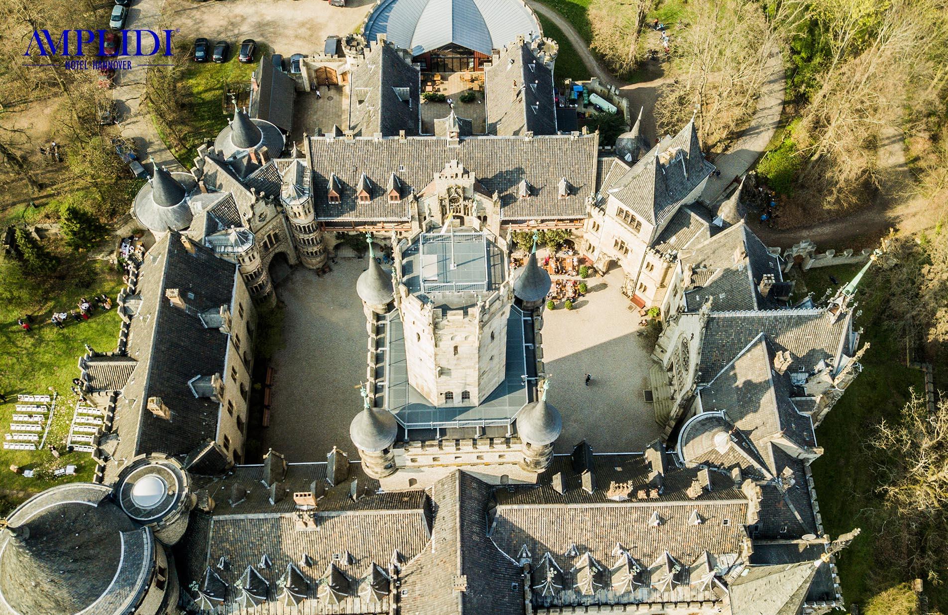 Der Innenhof von Schloss Marienburg