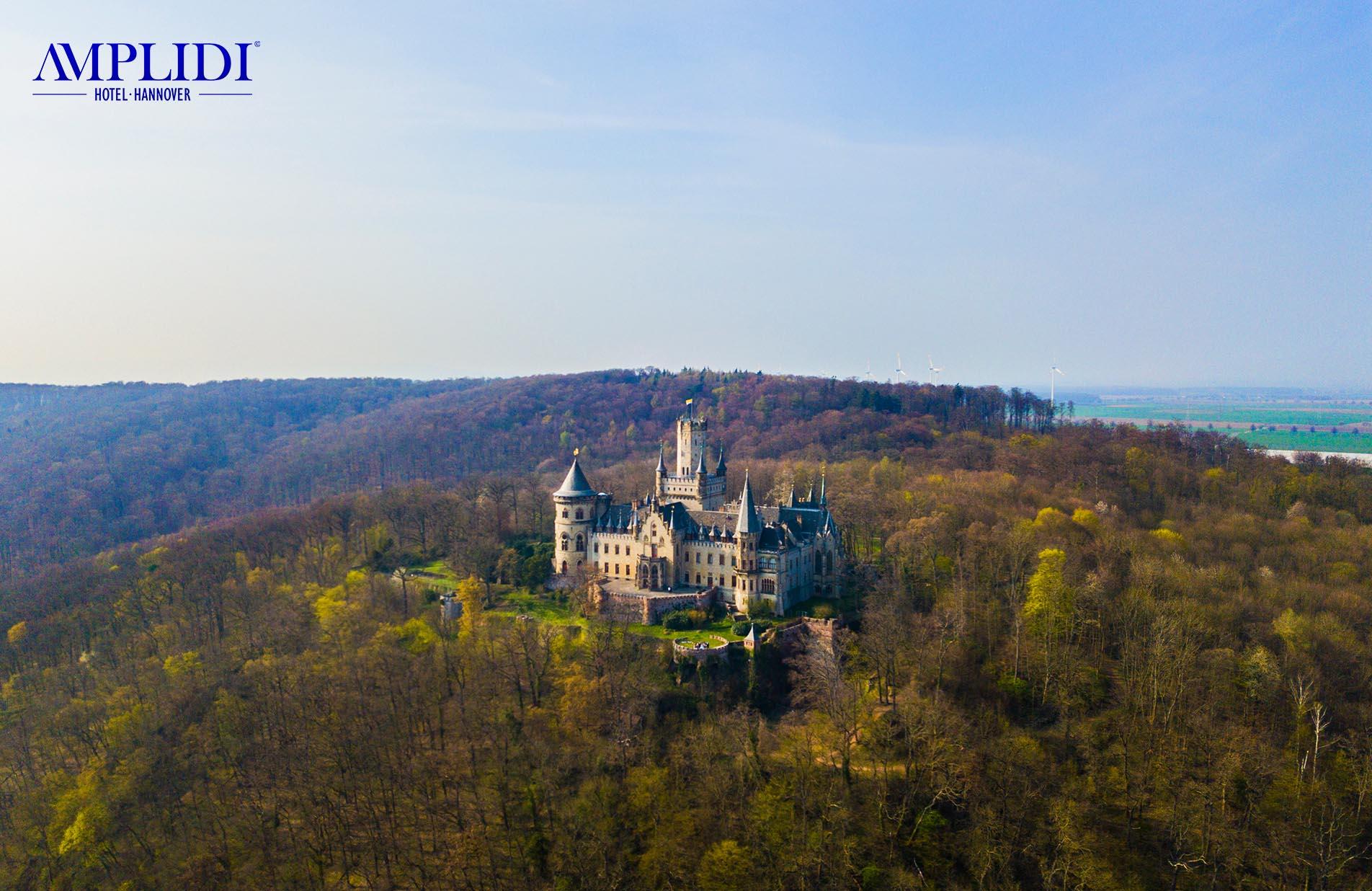 Schloss Marienburg bei Hannover von oben